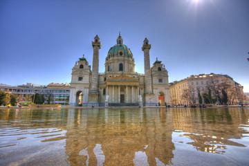 Keuken foto achterwand Wenen Karlskirche Wien