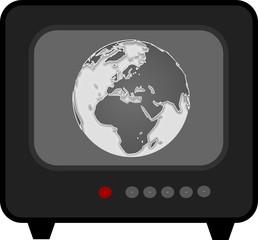 tv preto e branco