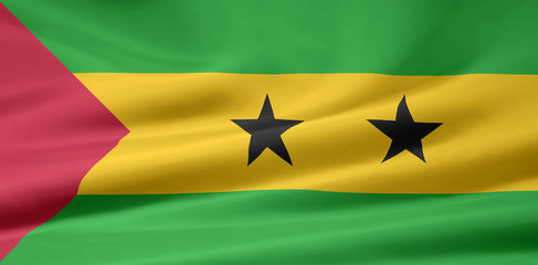 São Tomé und Príncipe Flagge