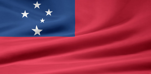 Samoanische Flagge