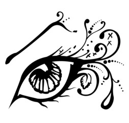 Vector illustration of an abstract eye