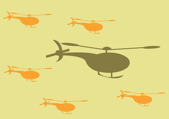 Wall Mural - camouflage helicopter pattern