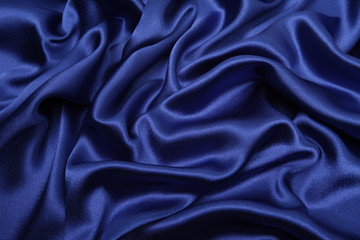 blue satin cloth