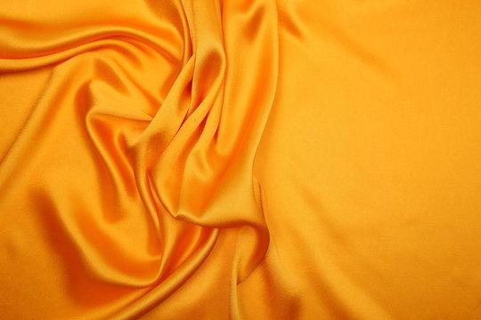 yellow satin cloth