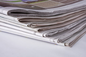 Newspapers - bottom corner stack