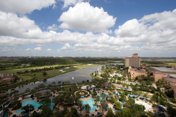 Wide angle view of Orlando resort