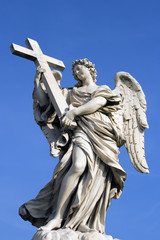 Castel Angelo Angel in Rome, Italy.