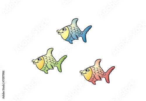 Three fishes small drei kleine fische stockfotos und for Kleine fische