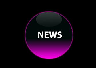 button news pink neon