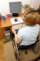 Handicapped telemarketer