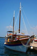 Boat near the berth