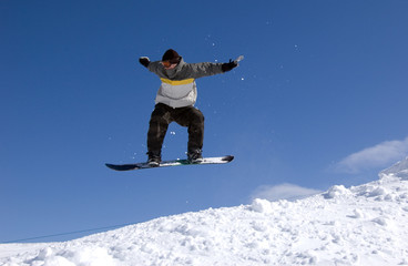 Snowboarder Mid-Air