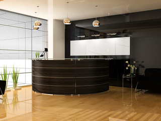 Reception in office