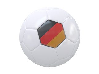 Ball with flag of the Germany