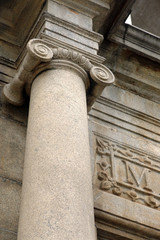 Ionic column at Ruin of St Paul Cathedral, Macau