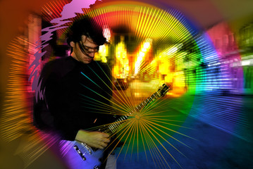 guitar rainbows