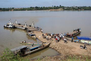 Ferry on Mekhong
