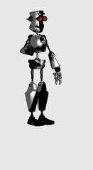 robot holding globe