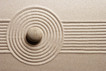 Printed roller blinds Stones in Sand Zen garden