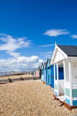 Beach huts at the British seaside