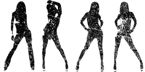 Grunge silhouettes