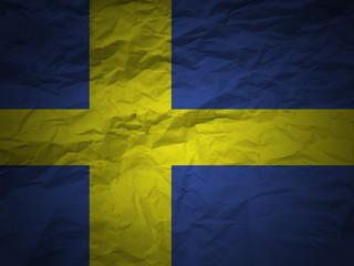 grunge background Swedish flag
