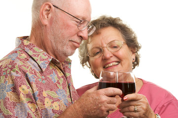 Cheerful Senior Couple Toasting