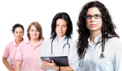 Medical team of four people