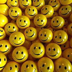 Yellow happy smilies