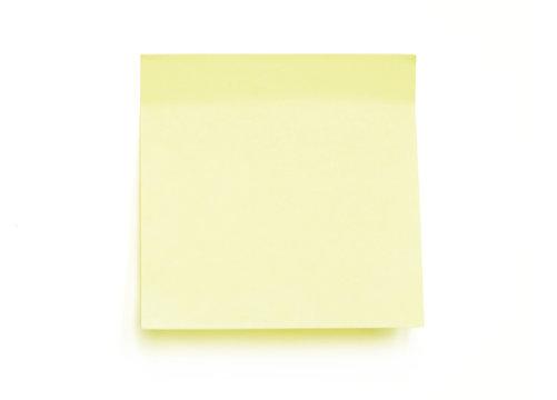 Yellow note pad reminder