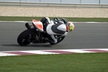 Superbike racing on track day