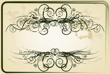 Vintage frame. Beige