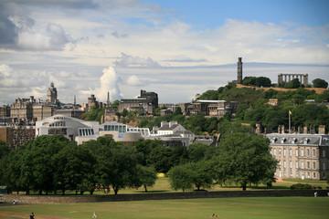 Edinburgh skyline with Holyrood park