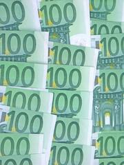 tapis de billets de 100 euros