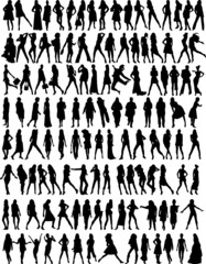 woman silhouettes collection