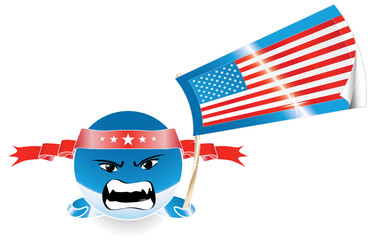 US election emoticon with flag