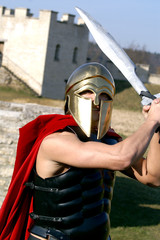 Foto op Canvas Ridders Griechischer Soldat 2