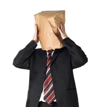 paper bag over head