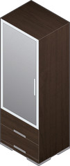 Modern Style Large Wooden Closets with aluminum finish