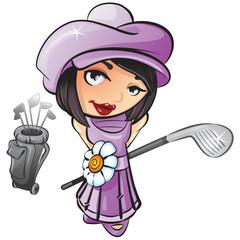 Pretty Golf Girl