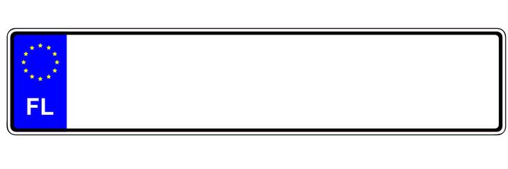 Autokennzeichen - Lichtenstein