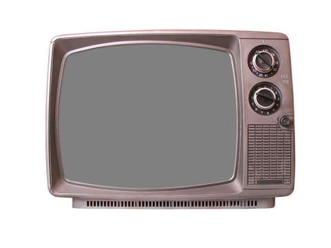 Old TV with Pure Screen Isolated # 2/