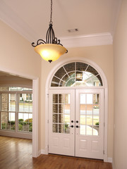 Luxury Foyer with Arched glass door1