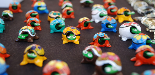 Carved Tortoise Toys