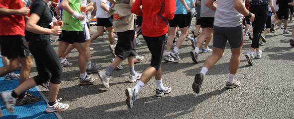 Runners starting the race