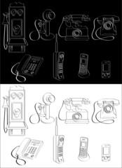 Phone evolution complete set