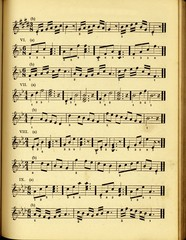vintage style musical score
