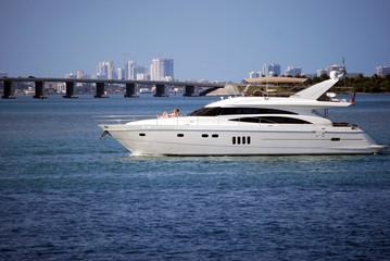 Smalll Luxury White Yacht