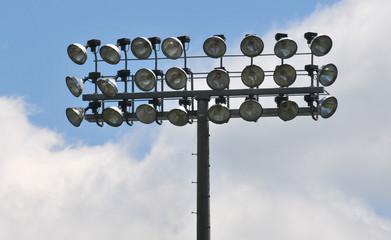 three tiers of stadium lights