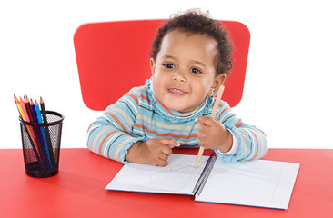 adorable baby student